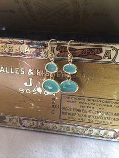 Hingham Harbor Earrings  Sea Green by adjewelry on Etsy
