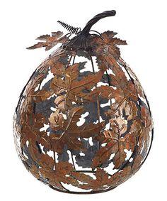 Look what I found on #zulily! Metal Leaf Pumpkin #zulilyfinds