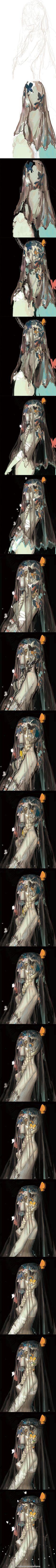 陌上`灵归采集到绘画(148图)_花瓣动漫