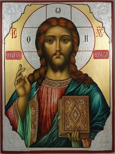 High quality hand-painted Orthodox icon of Christ the Savior. BlessedMart offers Religious icons in old Byzantine, Greek, Russian and Catholic style. Savior, Jesus Christ, Christ Pantocrator, Paint Icon, Images Of Christ, Holy Quotes, Russian Orthodox, Byzantine Icons, Orthodox Icons