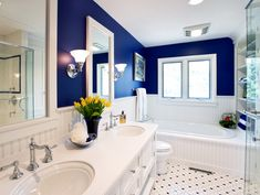 bathroom wall color inspiration