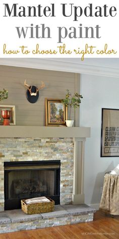No longer is white the only color for a mantel. Update your room with the easy but effective room game changer! Click photo to see all the details.