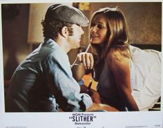 Slither Lobby Card #8, 1973, MGM, Condition VF+, size 11 x 14, stars James Caan, Peter Boyle, Sally Kellerman, Louise Lasser, Allen Garfield, and Richard B. Shull. Written by W. D. Richter. Directed by Howard Zieff. $9