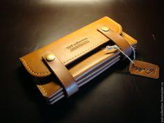 Купить Кошелек женский. - рыжий, натуральная кожа, ручная авторская работа, кошелек, кошелек из кожи Leather Box, Leather Gifts, Leather Pouch, Leather Craft, Leather Purses, How To Make Leather, Wallets For Women Leather, Womens Purses, Leather Projects
