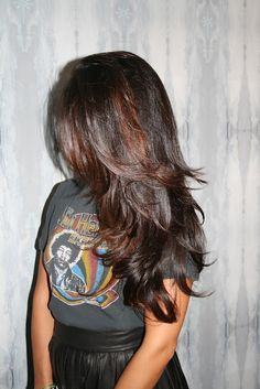 Glossy, layered hair. Love the layers!