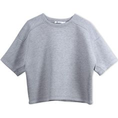 T By Alexander Wang Sweatshirt (9,895 PHP) ❤ liked on Polyvore featuring tops, hoodies, sweatshirts, light grey, t by alexander wang, short sleeve sweatshirts, t by alexander wang sweatshirt, rayon tops and short sleeve sweat shirt