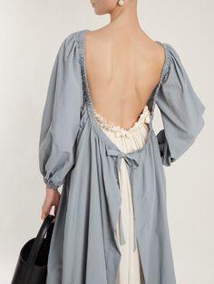 Click here to buy Molly Goddard Ingrid open-back taffeta dress at MATCHESFASHION.COM