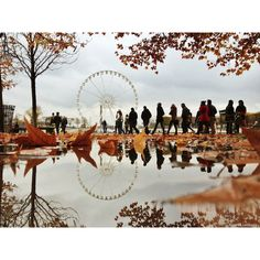 Paris Photos By Joanna Lemanska Capture Serene Reflections Of The City... found on Polyvore