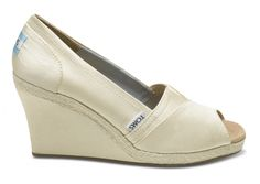 TOMs wedding shoes. The wedges are PERFECT for grass ceremonies