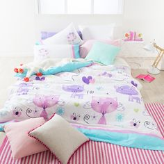 Girls Bedroom - Kitty Quilt Cover Set
