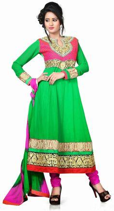 Chic Green Salwar Kameez
