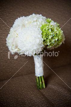 Hortensia, Bouquet formel, Mariage, Blanc, Vert Photo.