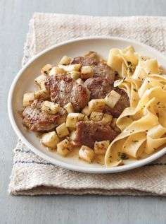 Sautéed Pork with Parsnips - Juicy tenderloins and sweet, nutty parsnips make a quick and easy dinner