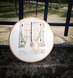#embroidery #handmade #broder #bordar #needlepoint #needleart #hoop #hoopart #cats #catlovers #pets #feitoamao #bastidor #gato