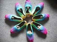 Tie dye Custom Toms shoes