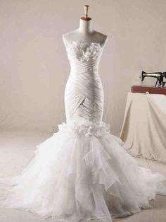 ウェディングドレス マーメイド ビスチェ コートトレーン 挙式 ブライダル 結婚式 B14TB0089 価格 ¥52,962