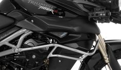 Touratech's fairing crash bar for the Triumph Tiger 800 and 800XC protects your expensive fuel tank and plastic fairings from damage during a fall.