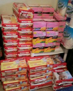Stockpile Diapers. #Coupon #Couponing #couponmania #Stockpile #Stockpiling Couponing For Beginners, Apartment Checklist, Preparing For Baby, Toddler Dolls, Baby Supplies, Baby Needs, Baby Preparation, Kids Room, House Goals