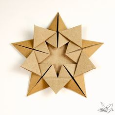 Origami 'Star Within' Tutorial - Ali Bahmani - Paper Kawaii - A tutorial teaching how to make an origami star designed by Ali Bahmani. This wonderful origami star is made from 1 sheet of pentagonal paper. Gato Origami, Instruções Origami, Origami Simple, Origami Star Box, Origami Dragon, Origami Fish, Origami Folding, Useful Origami, Origami Stars