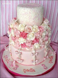 Pink & White Girly Cake