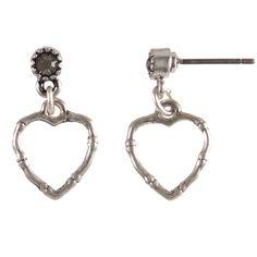 Hultquist Jewellery Bamboo Dragonfly Swarovski Silver Heart Earrings £15.99 http://www.lizzielane.com/product/hultquist-jewellery-bamboo-and-dragonfly-swarovski-crystal-silver-heart-earrings/