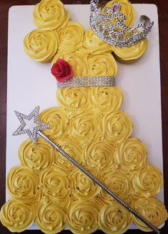 Belle from Beauty and the Beast Dress Cupcake Cake Disney Cakes