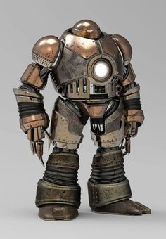 Iron Man redesigned in steampunk version by fans (part .-Iron Man redesigné en version steampunk par les fans (partie Iron Man redesigned in steampunk version by fans (part Robots Vintage, Retro Robot, Male Character, Character Concept, Character Design, Robots Steampunk, Steampunk Gadgets, Steampunk Armor, Steam Punk
