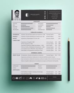 CV - Jesús Beas Martín / Arquitecto If you like this cv template. Check others on my CV template board :) Thanks for sharing! Cv Design, Resume Design, Brochure Design, Book Design, Graphic Design, Cv Template, Resume Templates, Logos Online, It Cv