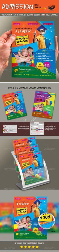 Junior+School+Admission+Flyer+Template