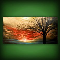 lollipop tree painting abstract landscape art original by mattsart, $350.00