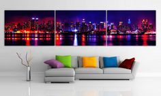 XLARGE 20x 96 8feet 3 panels or 30x100 5 panels Art by BoxColors, $139.00