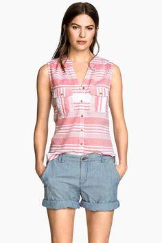 Blusa de algodón sin mangas | H&M