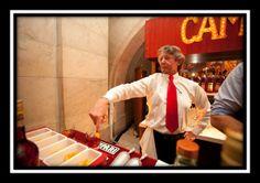 "Gary ""Gaz"" Regan finger stirring a Negroni at the MCC Gala, courtesy M Booth and Associates"