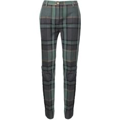 Vivienne Westwood Red Label Tartan Tuxedo Trousers ($250) ❤ liked on Polyvore featuring pants, trousers, plaid pants, tuxedo pants, velvet pants, tartan pants and straight leg pants
