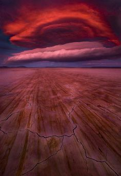 "An unreal natural color combination! ""The Fireball"" by Marc Adamus was taken in Alvord Desert, Oregon."