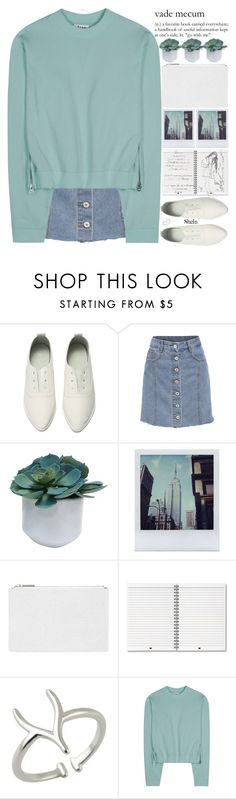 """we find beauty in other people's flaws, yet we find flaws in our own beauty."" by alienbabs ❤ liked on Polyvore featuring Threshold, Polaroid, Whistles, Acne Studios, Tina Lilienthal, clean, organized and shein"