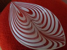 Made in Finland glass dish signed Oy by SabriinasCollections