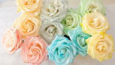 rainbow_flowers_intro Ουράνιο τόξο από αληθινά λουλούδια και χρώμα ζαχαροπλαστικής