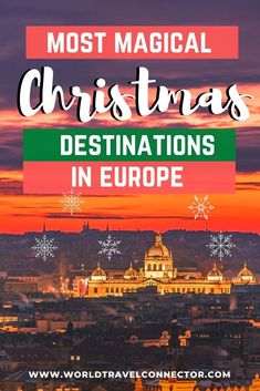 Looking for the best Christmas destinations in Europe? Here are the top destinations in Europe for Christmas! Best Christmas Vacations Europe I Christmas Destinations Europe I Best Places to visit in Europe in December I December Vacation Ideas Europe I Christmas Vacation Ideas Europe I Europe Christmas Travel I Best Europe Christmas Markets I Best Places to Spend Christmas in Europe I Christmas Holidays Europe I Christmas Trips Europe I Europe Travel Guide Winter I City Breaks Europe