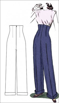 Amazon.com: Man's High Waisted 1790-1810 Trousers Pattern (Sizes