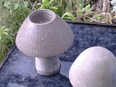 Concrete mushroom shaped tea light, my all time favorite so far created by Pudding Stone Alley, Petoskey, MI