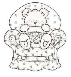 Valentine's Day Coloring Pages - Teddy Bear