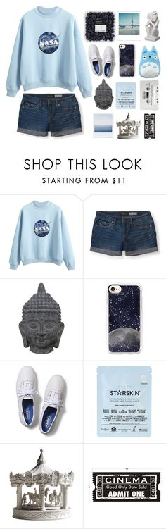 """""""rainy days"""" by dareenka on Polyvore featuring Aéropostale, Three Hands, Casetify, Keds, CASSETTE, Starskin, Haoshi Design, WALL, Polaroid and NOVICA"""