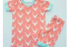 Free pattern: Short sleeve summer pajamas for older kids