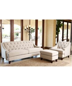 Riemann Curved Tufted Sectional Sofas And Loveseats