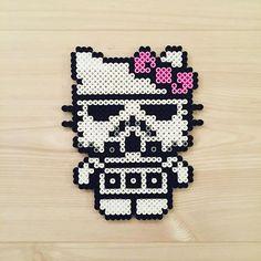 Stormtrooper Kitty - Star Wars perler beads by kittybeads
