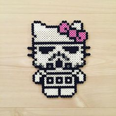 Stormtrooper Kitty - Star Wars perler beads by kittybeads
