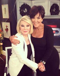 Kris Jenner comparte su amor por Joan Rivers