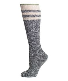 This Flannel & White Stripe Rugby Knee-High Socks - Women by Lemon Legwear is perfect! #zulilyfinds