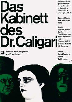 Das Kabinett des Dr. Caligari, Poster by Karl Oskar Blase 1964